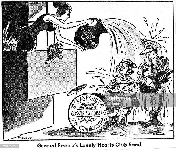 Franklin Cartoon 1823 Published 11th September 1967 ' General Franco's Lonely Hearts Club '