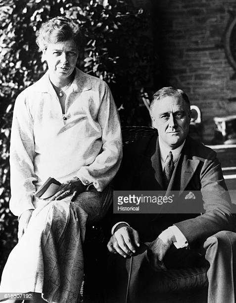 Franklin D Roosevelt and Eleanor Roosevelt