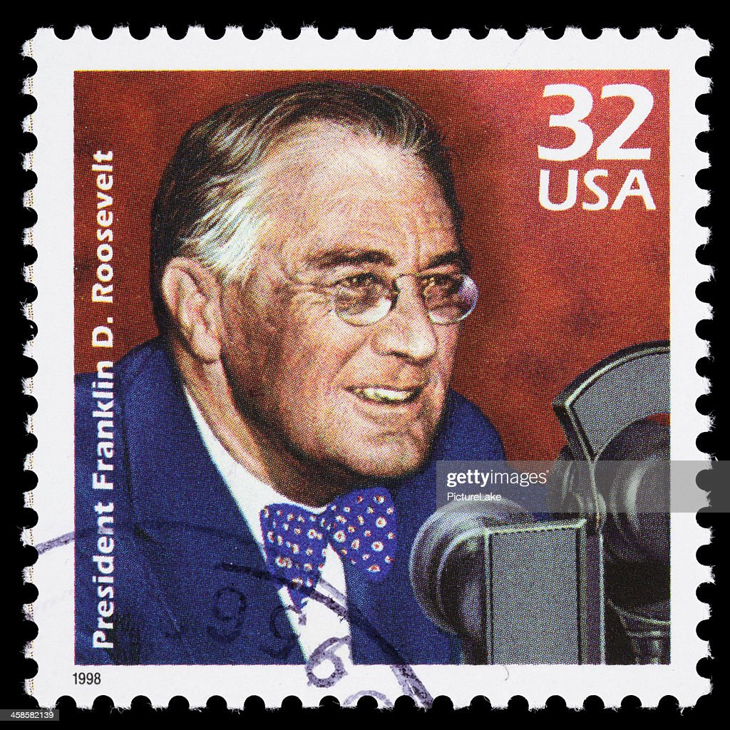 USA Franklin D. Roosevelt (FDR) postage stamp : Stock Photo