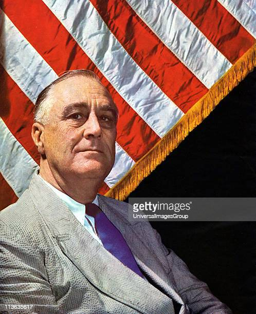 Franklin Delano Roosevelt 32nd President of USA 1932184545 photographed c1943