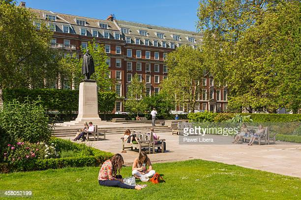 Franklin Delano Roosevelt memorial in Grosvenor Square at the front of American Embassy in London's Mayfair.