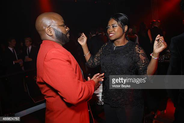 Franklin Eugene and Taylor Re' Lynn attend the amfAR Milano 2014 - After Party as part of Milan Fashion Week Womenswear Spring/Summer 2015 on...