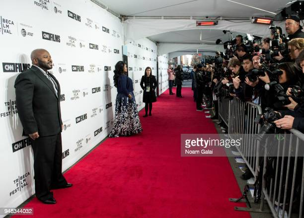 Franklin Eugene and Taylor Re Lynn attend world premiere of Love Gilda documentary at the Tribeca Film Festival at the Beacon Theatre on April 18,...