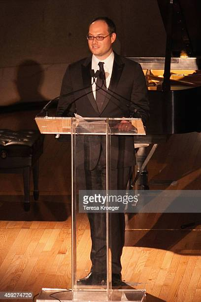 Franklin Foer, Editor at The New Republic, speaks on stage at the New Republic Centennial Gala at the Andrew W. Mellon Auditorium on November 19,...