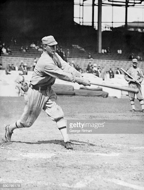 Franklin 'Home Run' Baker is shown in action This is the same youngster of the Athletics who in 1911 when his team faced the Giants in the World's...