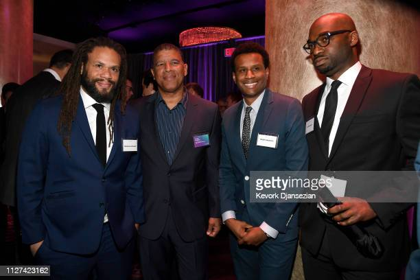 Franklin Leonard Peter Ramsey Tedo Nagenda and Bryan Smiley attend the 91st Oscars Nominees Luncheon at The Beverly Hilton Hotel on February 04 2019...