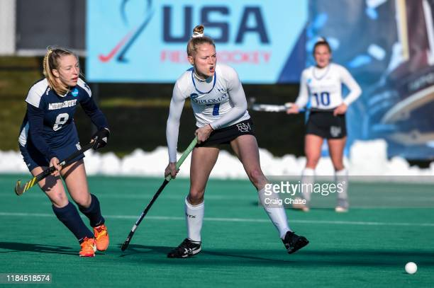 Franklin Marshall Diplomats Abby Straub against the Middlebury Panthers at the Division III Women's Field Hockey Championship held at Spooky Nook...