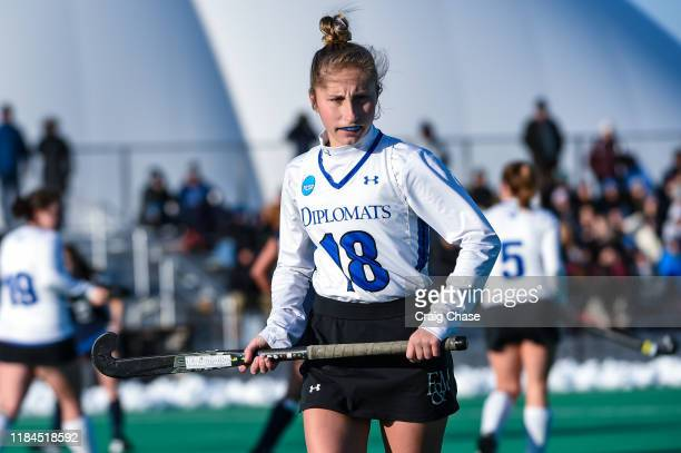 Franklin Marshall Diplomats Addie Peters against the Middlebury Panthers at the Division III Women's Field Hockey Championship held at Spooky Nook...