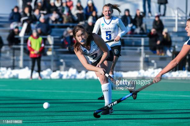 Franklin Marshall Diplomats Erin Coverdale against the Middlebury Panthers at the Division III Women's Field Hockey Championship held at Spooky Nook...
