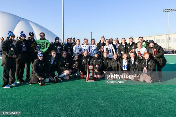 Franklin Marshall is photographed with the national runnerup trophy following the Division III Women's Field Hockey Championship held at Spooky Nook...