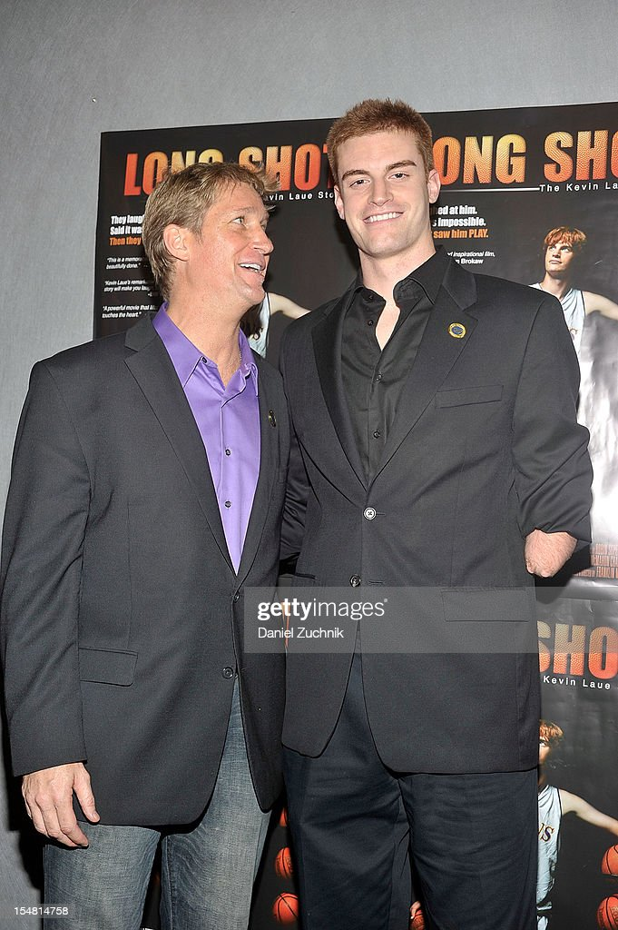Franklin Martin and Kevin Laue attend the 'Long Shot: The Kevin Laue Story' New York Premiere at Quad Cinema on October 26, 2012 in New York City.
