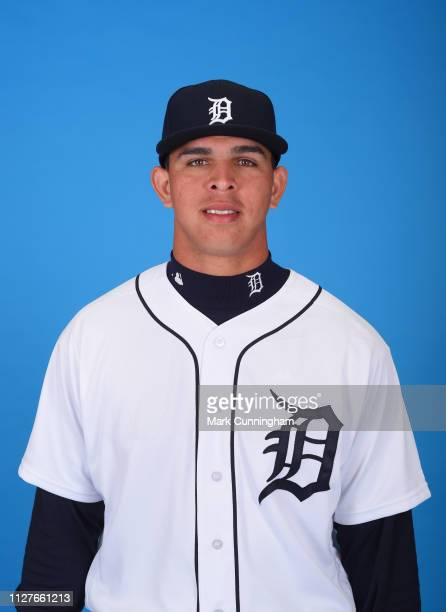 Franklin Perez of the Detroit Tigers poses for a photo during photo day at the TigerTown Facility on February 26 2019 in Lakeland Florida