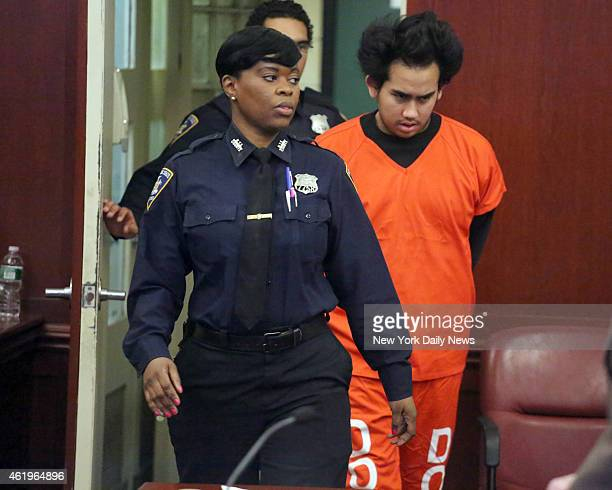 Franklin Reyes appears in Manhattan Supreme Court on Wednesday January 14 2015 Reyes is charged with allegedly killing a child Ariel Russo on the...