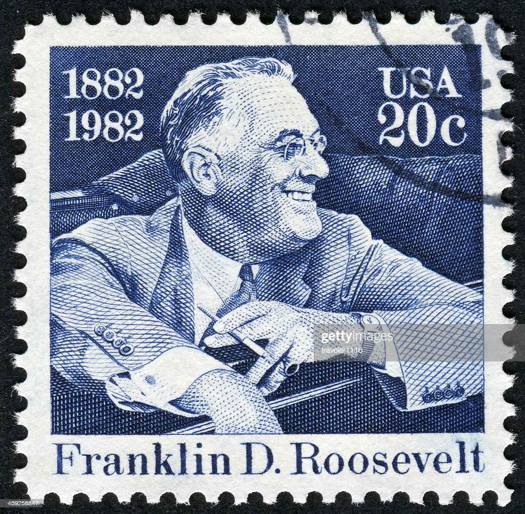 Franklin Roosevelt Stamp : Stock Photo