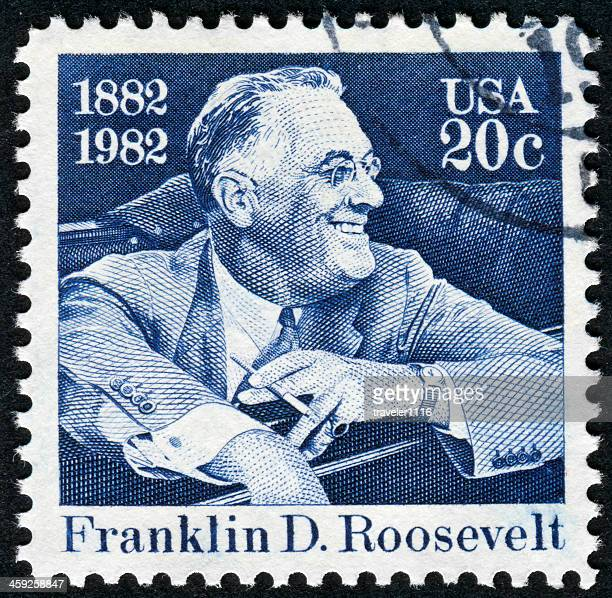 franklin roosevelt stamp - fdr stock photos and pictures