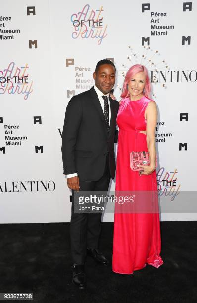 Franklin Sirmans and Alexa Wolman attend PAMM Art Of The Party Presented By Valentino at Perez Art Museum Miami on March 17 2018 in Miami Florida