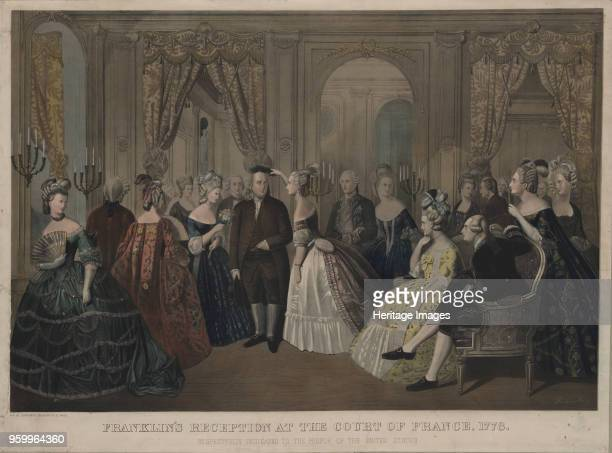 Franklin's reception at the court of France 1850s. Private Collection. )