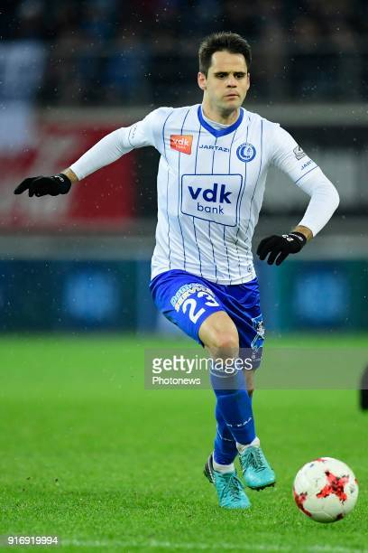 Franko Andrijasevic midfielder of KAA Gent in action during the Jupiler Pro League match between KAA Gent and Sint Truidense VV at the Ghelamco Arena...