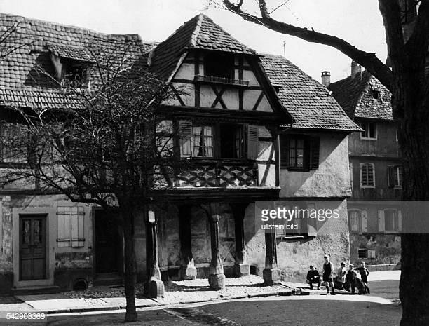 Frankreich Elsass Buchsweiler Laubenhaus veroeffentlicht in Reich 23 /1944Foto Harald Harlinghausen