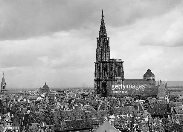Frankreich Elsass Strassburg Uebersicht mit Muenster um 1940
