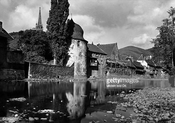 Frankreich Elsass Thann an der Thur um 1940