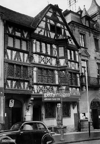Frankreich Elsass Zabern Altes Fachwerkhaus 1940