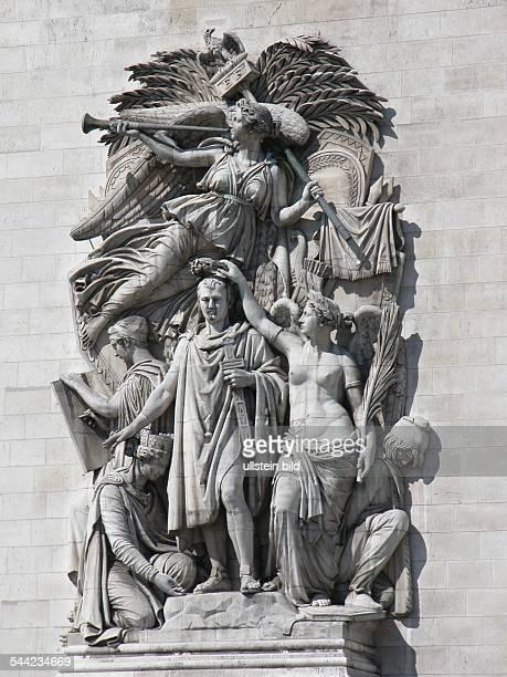 Frankreich, Paris: Arc de Triomphe - Napoleon-Relief .