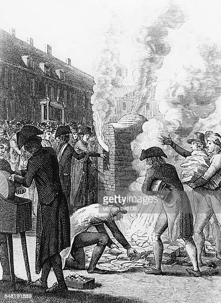 Frankreich, Revolutuion, Direktoriumszeit 1794-1799: Die während der Revolutionszeit vom Staate ausgegebenen Anweisungen auf Staats-, Kirchengüter...