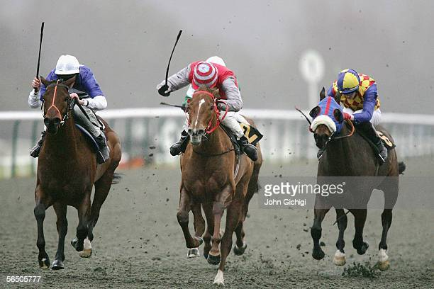Franksalot ridden by Eddie Ahern wins the Betdirectpokercom claiming stakes at Lingfield Park on December 30 2005 in Lingfield England