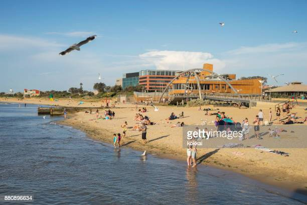 frankston beach, melbourne - southeast stock pictures, royalty-free photos & images