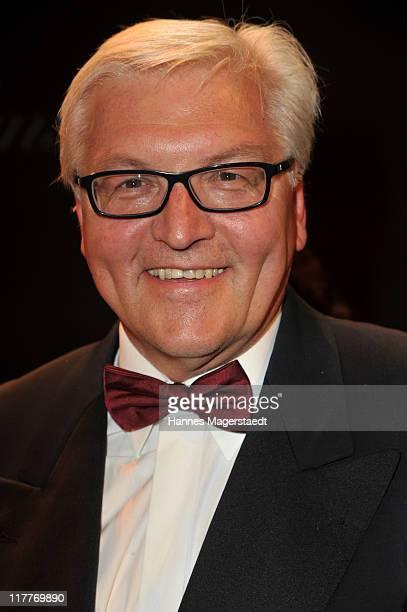 FrankWalter Steinmeier attends the Bernhard Wicki Award 'Die Bruecke Der Friedenspreis des Deutschen Films 2011' at the Cuvillies Theater on June 30...