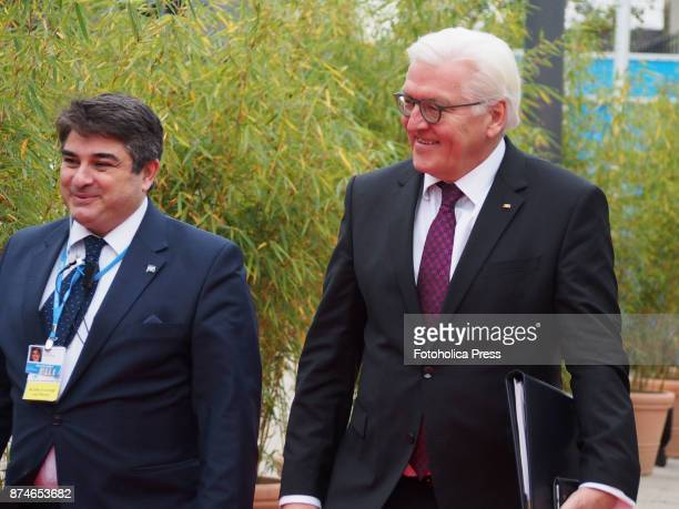 FrankWalter Steinmeier President of Germany arriving to the United Nations Framework Convention on Climate Change UNFCCC COP23