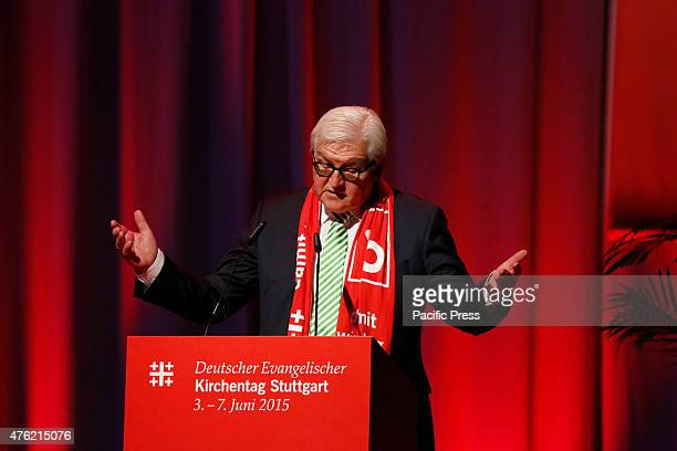 FrankWalter Steinmeier the German Minister for Foreign Affairs speaks at the 35th German Protestant Church Congress