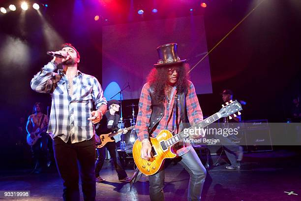 Franky Perez and S;ash perform at the Los Angeles Youth Network Benefit Concert at Avalon on November 22, 2009 in Hollywood, California.