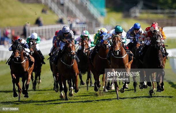 Franny Norton riding Kimberella win The Boodles Diamond Handicap Stakes at Chester racecourse on May 4 2016 in Chester England
