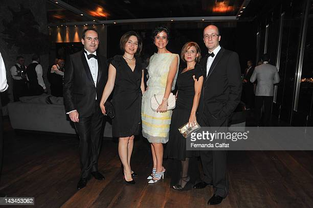 Franois and Natasha Rosset Priscila Monteiro Marie and Marc Justeb attends amfAR's 2nd Annual Inpsiration Gala Sao Paulo on April 26 2012 in Sao...