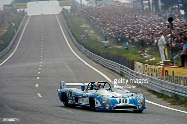 François Cevert MatraSimca MS670B 24 Hours of Le Mans Le Mans 10 June 1973 François Cevert at the wheel of the MatraSimca MS670B in the 1973 24 Hours...