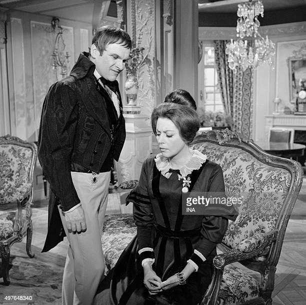 François Chaumette and Anne Vernon in 'The lost Illusions' television serial adapted of the novel of Balzac and realized by Maurice Cazeneuve