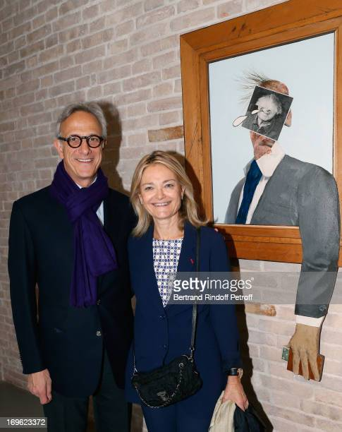 François de Ricqles CEO of Christie's and Florence de Botton attend the opening of the Fondazione Pinault punta della Dogana on May 29 2013 in Venice...