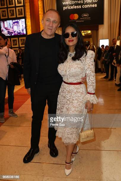 Franois Henri Pinault and his wife Salma Hayek are seen at 'Le Majestic' hotel during the 71st annual Cannes Film Festival at on May 13, 2018 in...