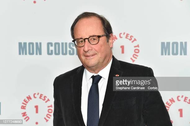 "François Hollande attends the ""Mon Cousin"" premiere at Le Grand Rex on September 28, 2020 in Paris, France."