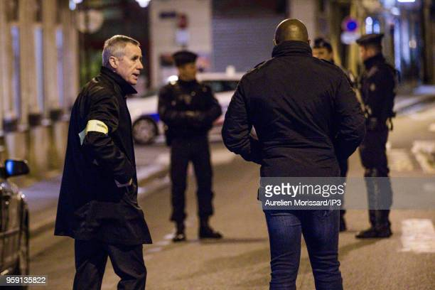 François Molins public prosecutor of Paris intervene after the knife attack at Monsigny street and Saint Augustin street on May 12 2018 in Paris...