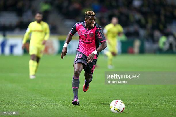 François Moubandje of Toulouse during the Ligue 1 match between Fc Nantes and Toulouse Fc at Stade de la Beaujoire on November 5 2016 in Nantes...