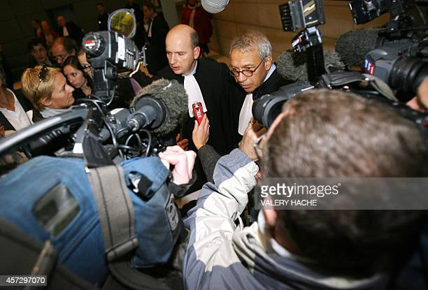 François SaintPierre and JeanPierre VersiniCampinchi lawyers of JeanMaurice Agnelet adress the press 24 November 2006 the French Riviera city of Nice...