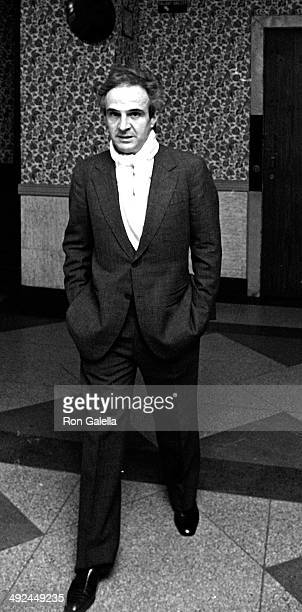 François Truffaut attends the premiere party for 'The Last Metro' on October 12 1980 at the Rock Lounge in New York City
