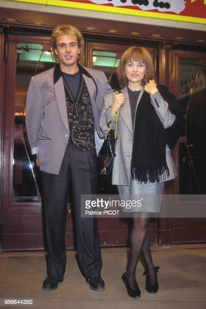 François Valery et Nicole Calfan lors d'une soirée en octobre 1989 à Paris, France.