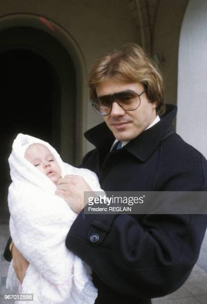 François Valéry lors du baptême de sa nièce le 23 décembre 1984 à Paris France