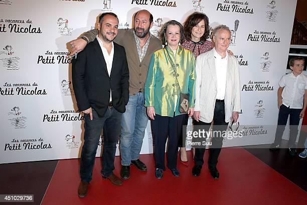 Franois Xavier DemaisonKad MeradDominique LavanatValerie Lemercier and Daniel Prevost attend the premiere of 'les Vacances Du Petit Nicolas' at...