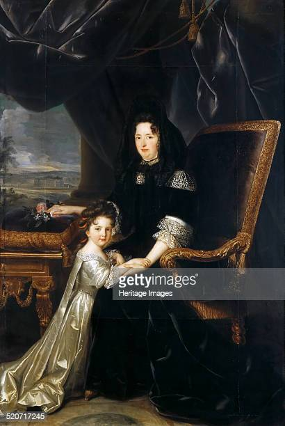 Françoise d'Aubigné Marquise de Maintenon with her niece Found in the collection of Musée de l'Histoire de France Château de Versailles