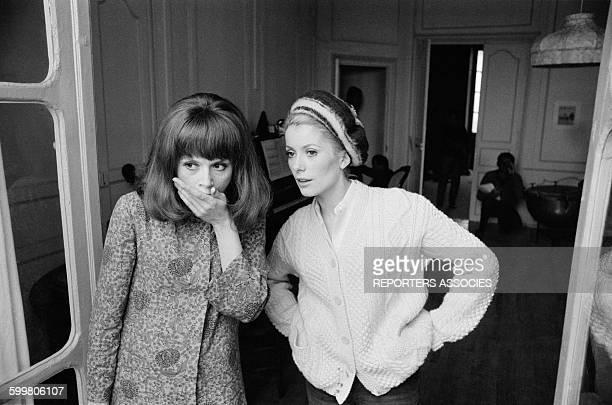 Françoise Dorléac And Catherine Deneuve On The Set Of The Movie 'Les Demoiselles De Rochefort' Directed By Jacques Demy In Rochefort France On June 9...